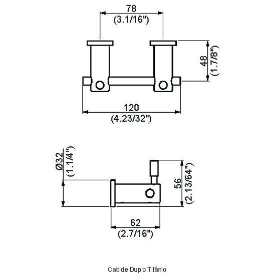 Cabide Titânio Duplo Perflex