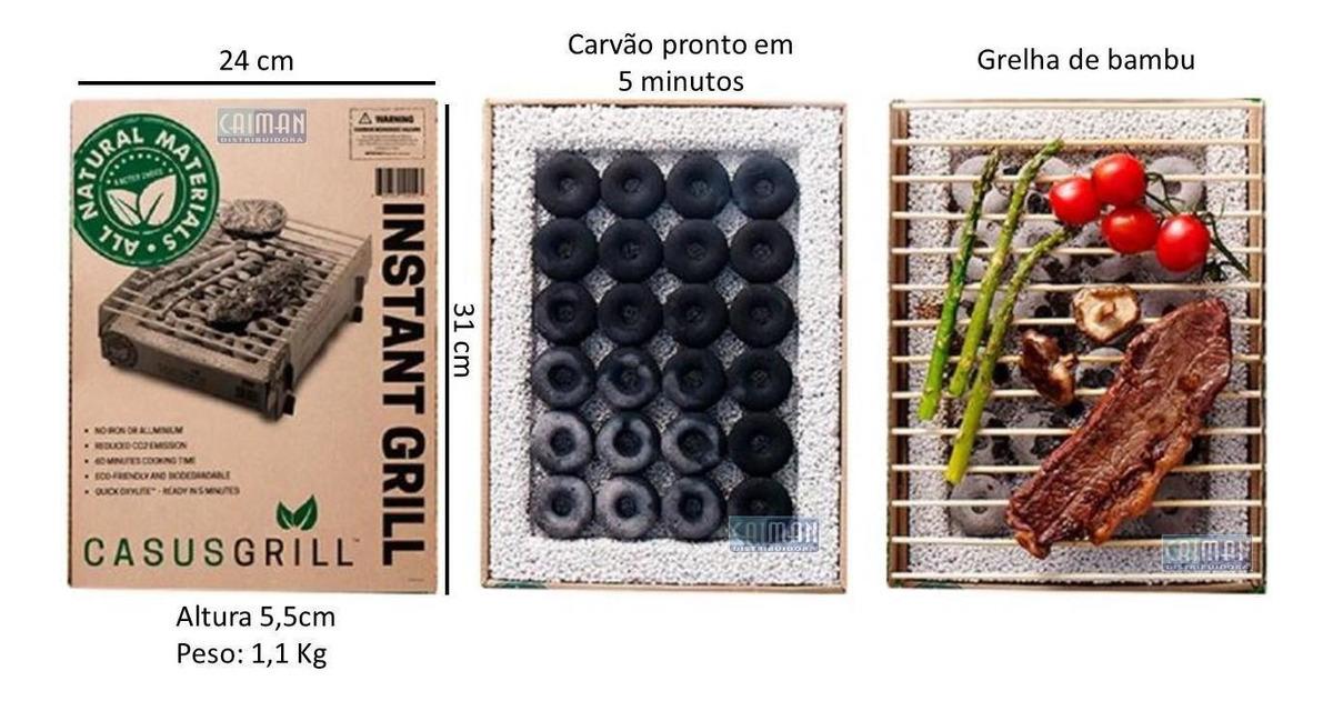 CASUSGRILL Churrasqueira Portátil Ecológica Biodegradável Descartável