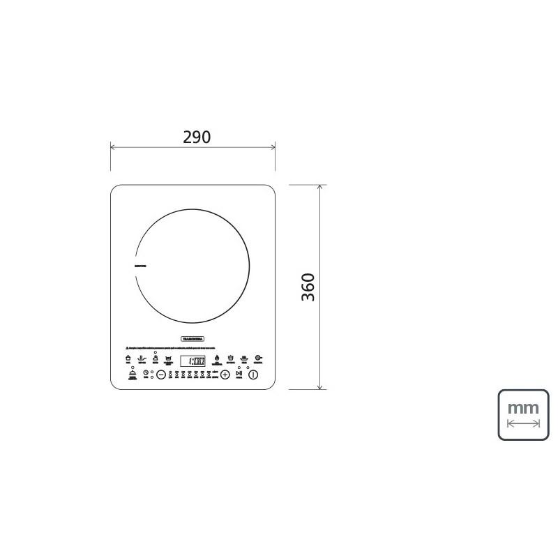 Cooktop Portatil Indução Mono Slim Touch Ei30 220v Vitrocerâmico 94714/132 Tramontina