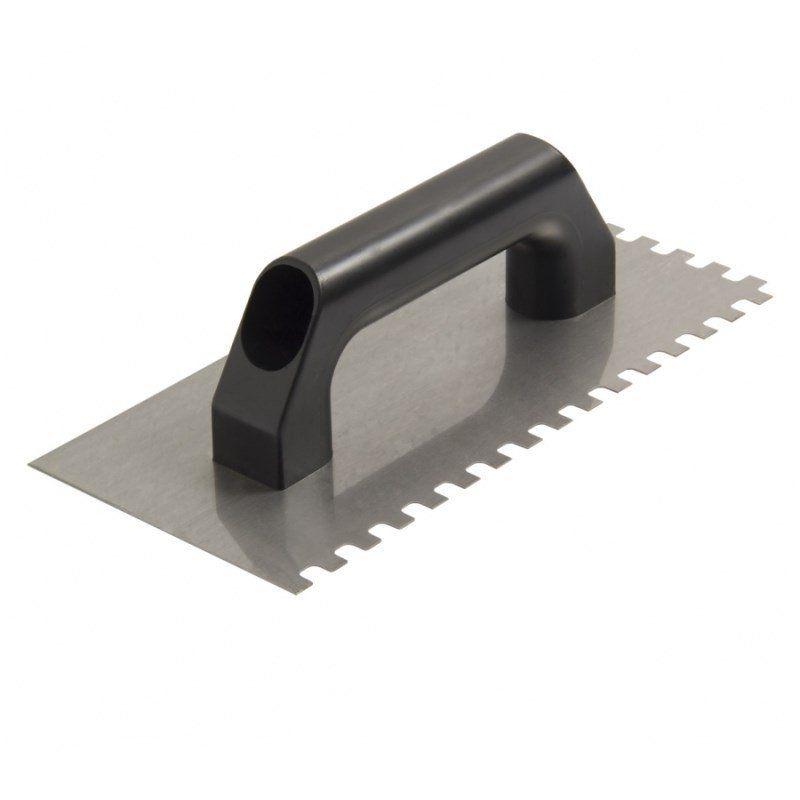 Desempenadeira Aço Dentada 12X12mm Cabo Plástico Cortag