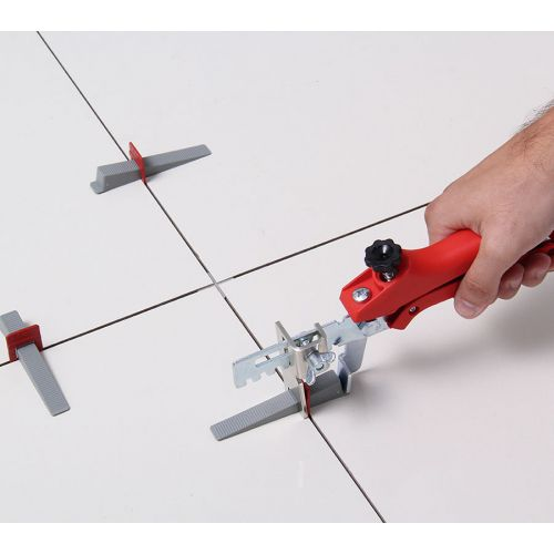 Espaçador Nivelador de Piso 1,5mm Slim Vermelho (pct 100pçs)8 Cortag