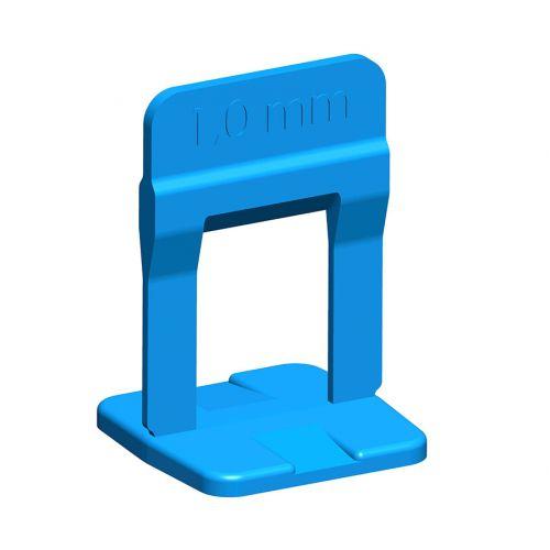 Espaçador Nivelador de Piso 1mm Slim Azul (pct 100pçs) Cortag