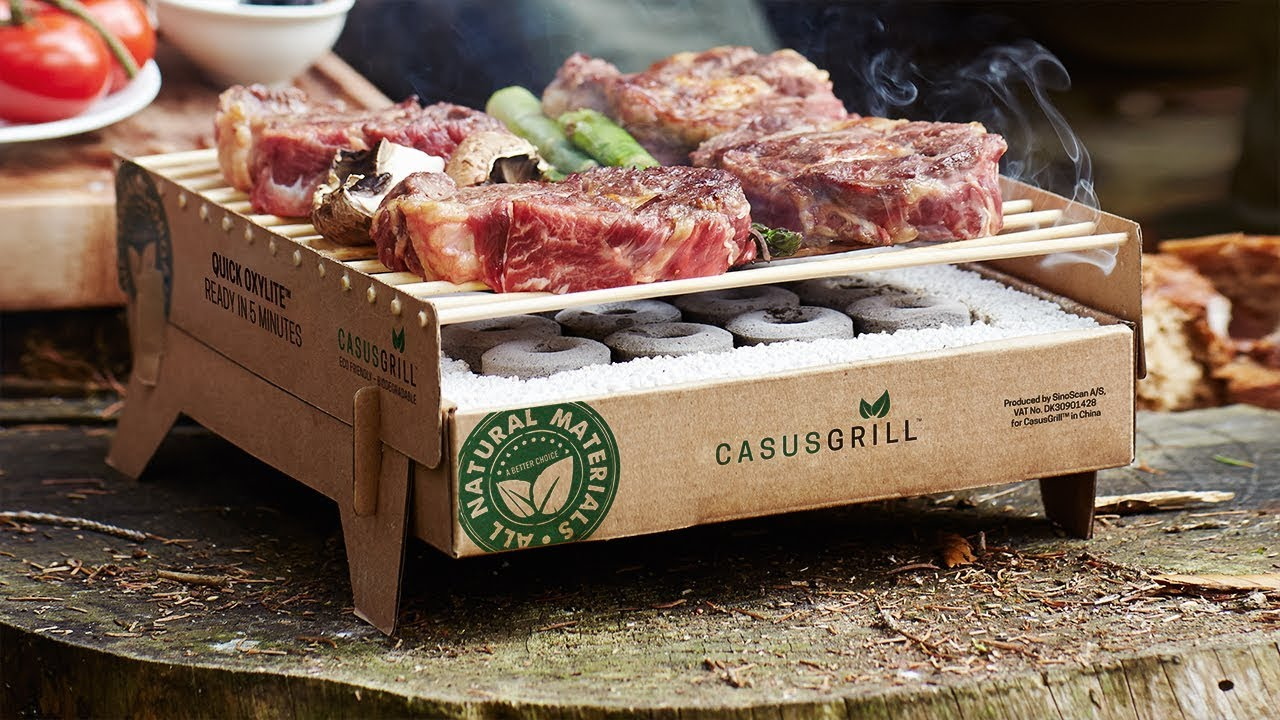 Kit 2 Churrasqueiras Biodegradável Ecológica Casus Grill