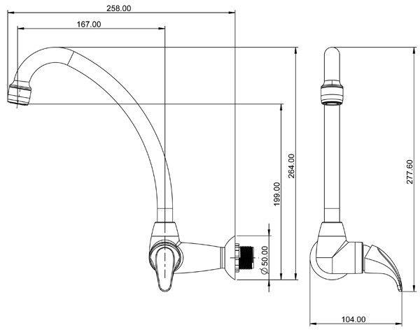 Luminária K8 LED 36W 6000K 120cm Bivolt Luminatti