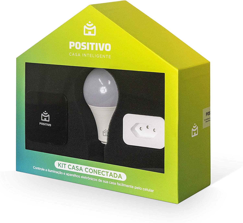 Kit Casa Conectada Lâmpada, Controle e Smart Plug Positivo Casa Inteligente