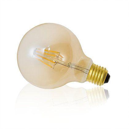 Lâmpada Ballon LED Filamento 4W Âmbar E27 127V Luminatti