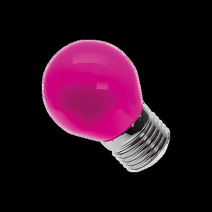 Lâmpada Bolinha LED 6W Rosa E27 Bivolt Luminatti