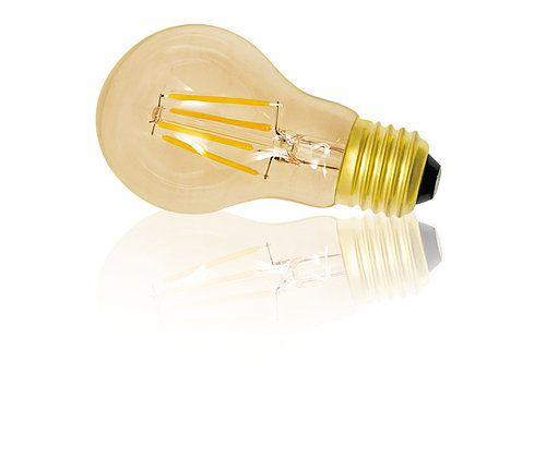 Lâmpada Bulbo LED Filamento 4W Âmbar E27 127V Luminatti