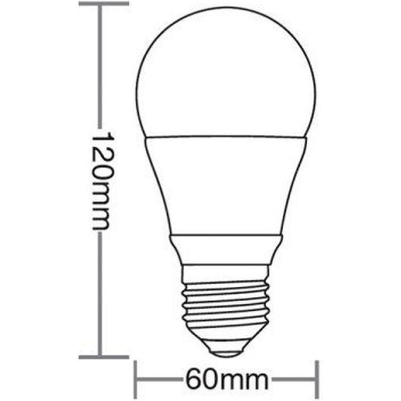 Lâmpada Bulbo Led TKL 60 9W 3000K 100/240V Taschibra