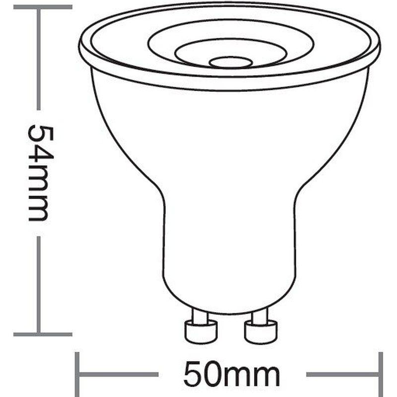 Lâmpada Dicróica LED MR16 TDL 35 4,9W 3000K GU10 100/240V Taschibra