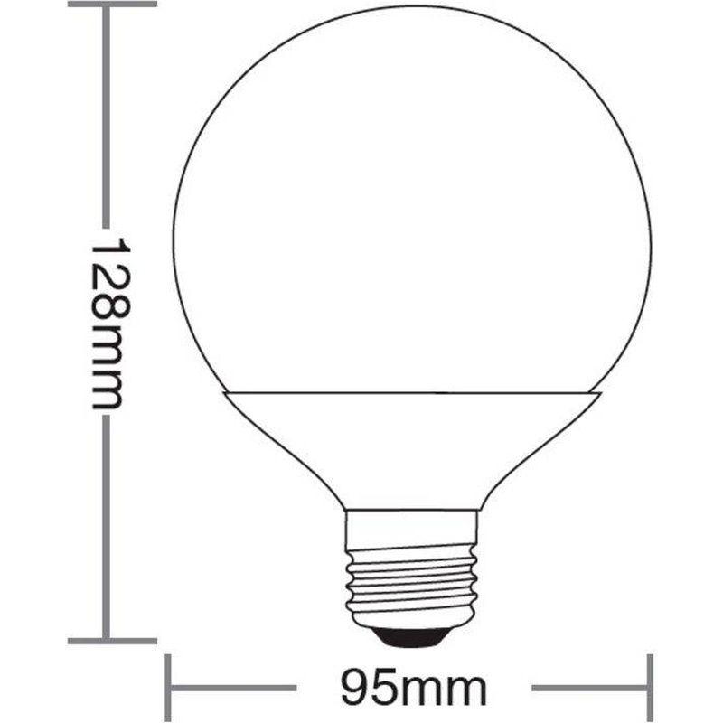 Lâmpada Globo LED 100 9,5W 6500K 100/240V Taschibra