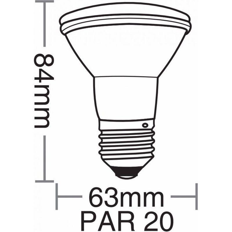 Lâmpada LED PAR 20 LED 7W 6500K 100/240V Taschibra