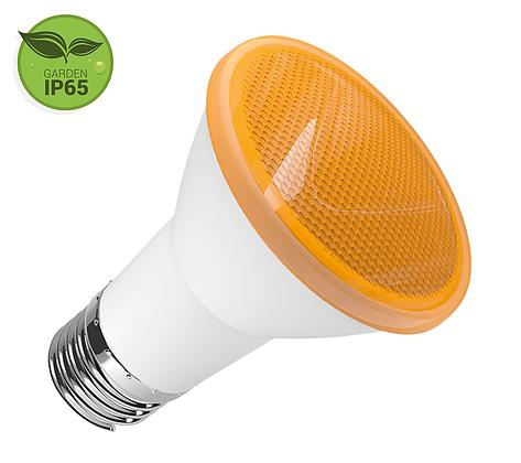 Lâmpada PAR20 LED 6W Âmbar E27 IP65 Bivolt Luminatti