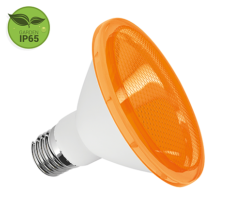 Lâmpada PAR30 LED 10W Âmbar E27 IP65 Bivolt Luminatti