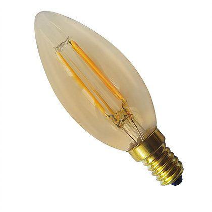 Lâmpada Vela LED Filamento 2W Âmbar E14/E27 127V Luminatti