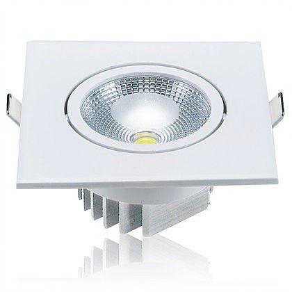 Mini Cob. Spot LED 10W 3000K Embutir Quadrado Bivolt Luminatti