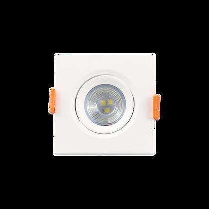 Mini Spot LED 3W 6500K Embutir Quadrado Bivolt Luminatti