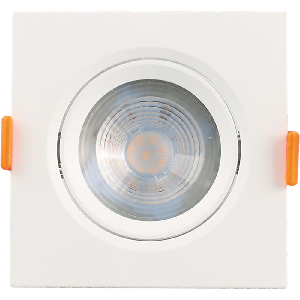 Mini Spot LED 7W 3000K Embutir Quadrado Bivolt Luminatti
