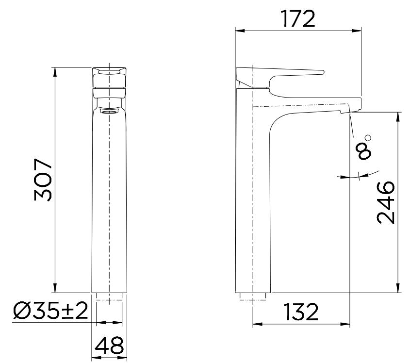 Misturador Monocomando de Lavatório Lift Mesa Bica Alta Cromado Docol