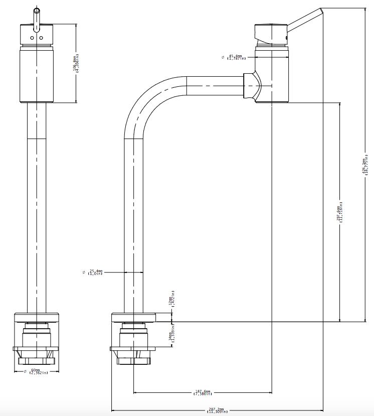 Misturador Monocomando de Lavatório Lóggica Mesa Bica Alta 90 Cromado Docol