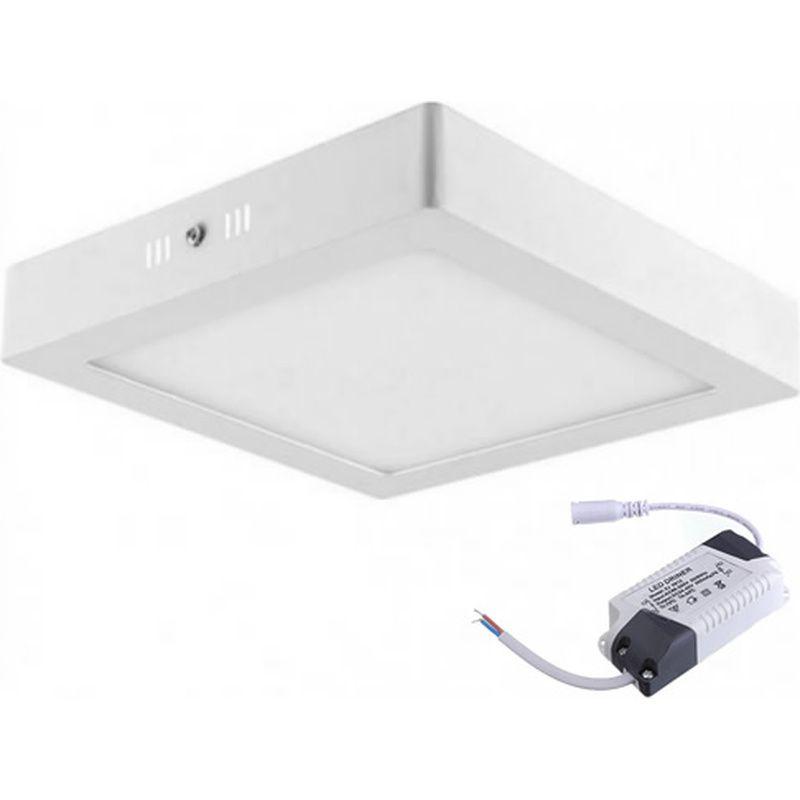 Painel LED 17 Sobrepor Quadrado 12W 3000K 100/240V Taschibra