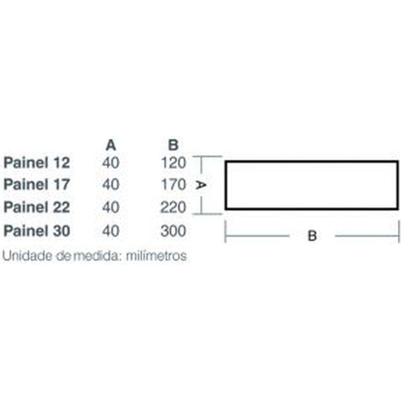 Painel Led 17 Sobrepor Redondo 12W 3000K 100/240V Taschibra