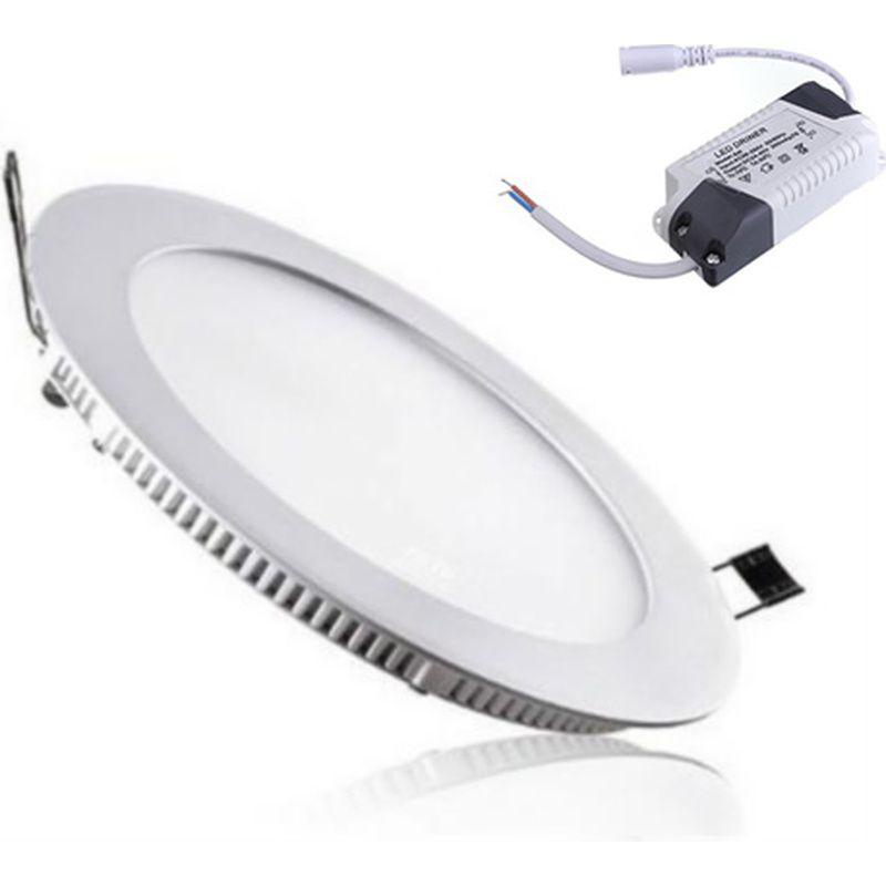Painel LED 22 Embutir Redondo 18W 3000K 100/240V Taschibra