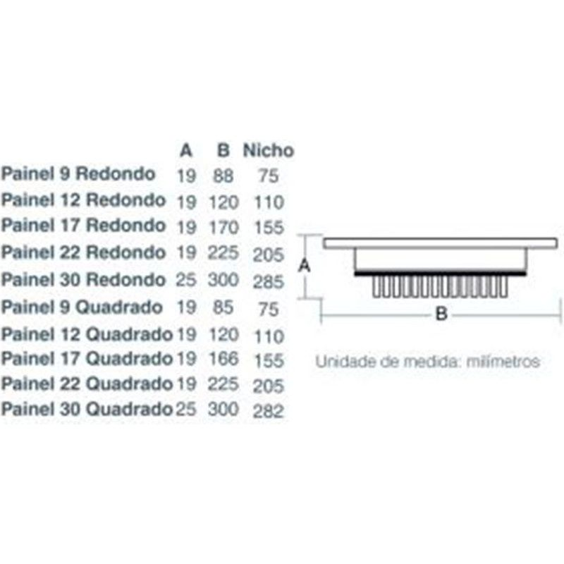 Painel LED 22 Embutir Redondo 18W 6500K 100/240V Taschibra