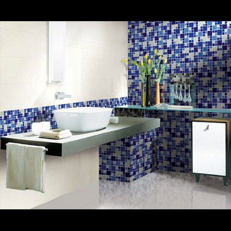 Pastilha De Vidro 30X30 Azul Lbg4823-Mixblue 2,3X2,3/4,8X4,8 La Bella
