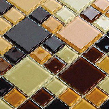 Pastilha de Vidro 30x30 Caramelo Lbg4823-MIXBROWN 2,3X2,3/4,8X4,8 La_bella