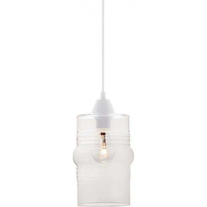 Pendente Marrocos Ali Vidro Liso Transparente Sem Lâmpada Máximo 40W 225x125mm Taschibra