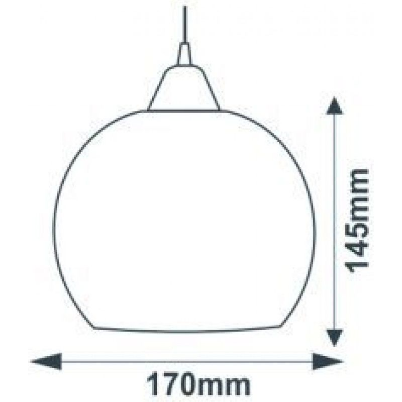 Pendente Marrocos Yasmin Boreal Transparente Sem Lâmpada Máximo 40W 145x170mm Taschibra