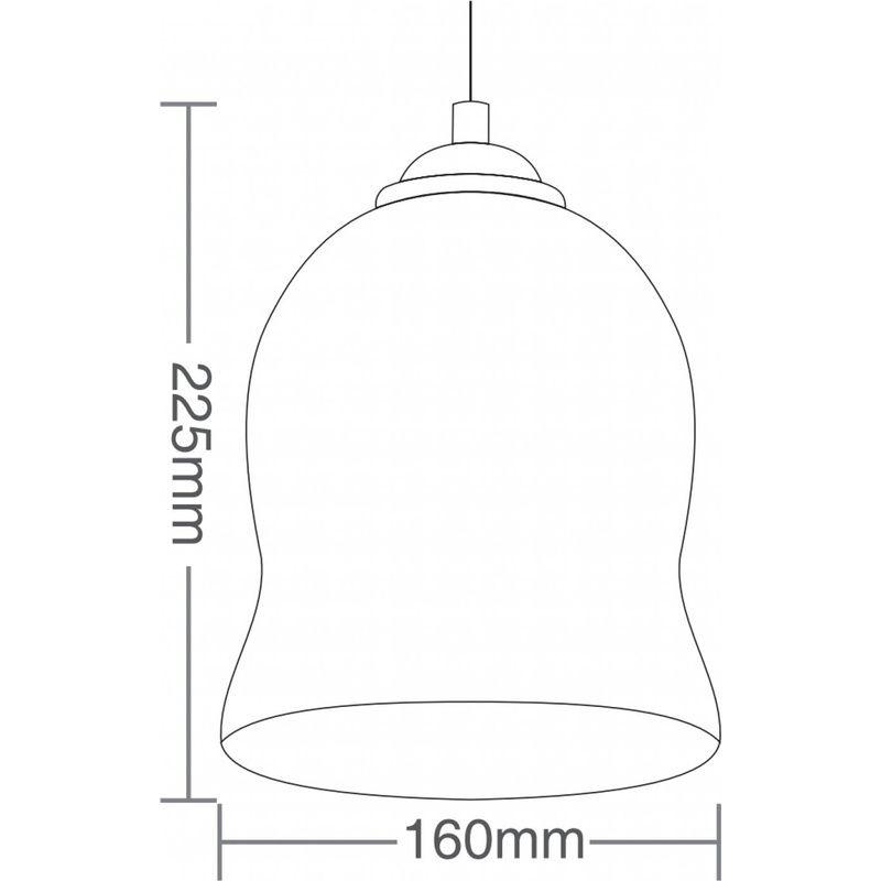Pendente TD3007 Acobreado Sem Lâmpada Máximo 40W 225X160mm Taschibra