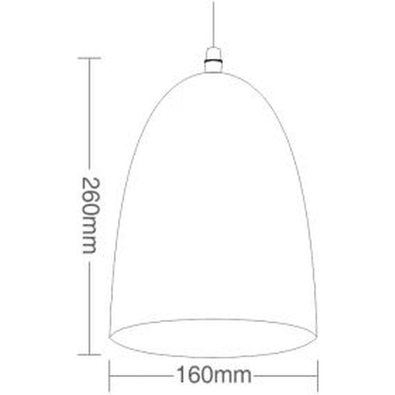 Pendente TD3008 Sem Lâmpada 260x160mm Taschibra