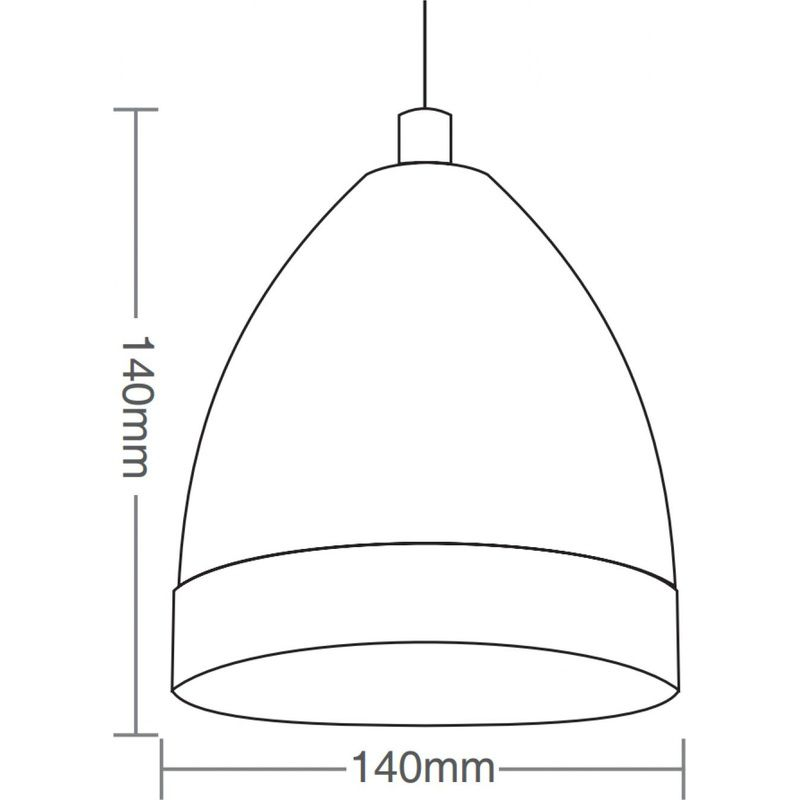 Pendente TD3013 Acobreado Sem Lâmpada 140x140mm Taschibra