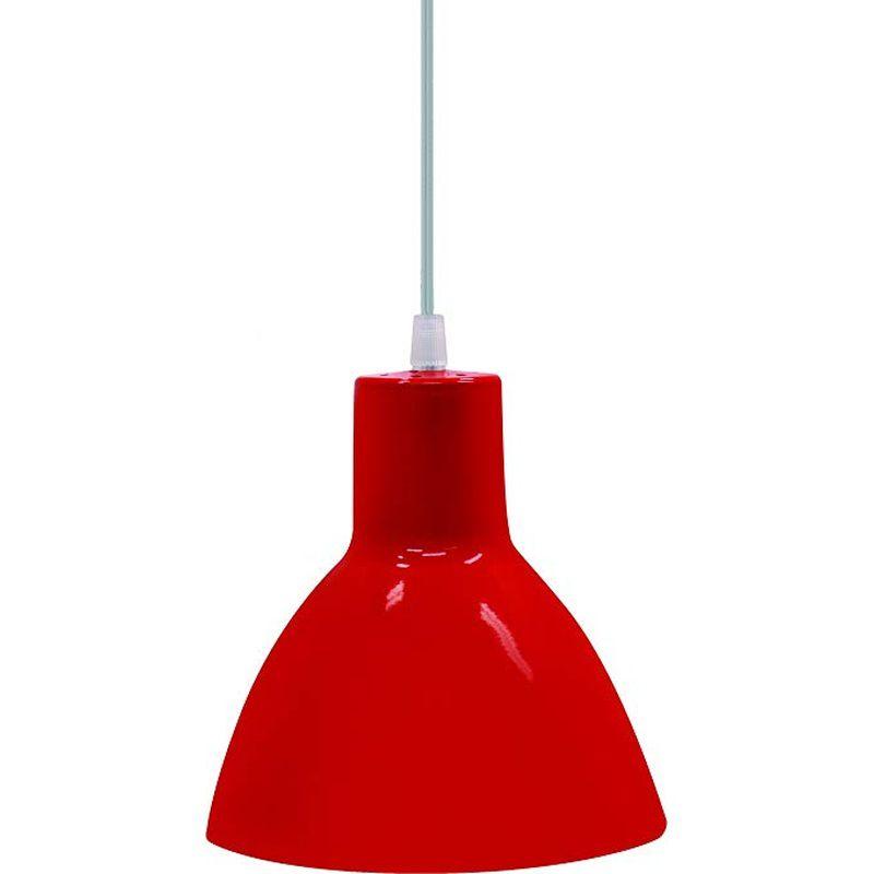Pendente TD622 Vermelho Sem Lâmpada Máximo 40W 200x175mm Taschibra