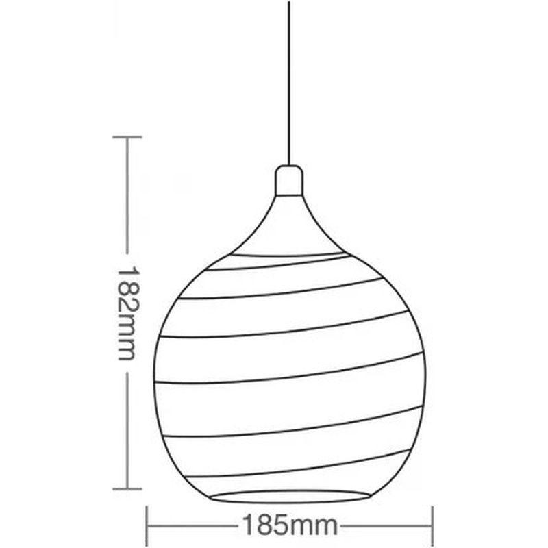 Pendente TD640 Base 2xE27 Sem Lâmpada Máximo 40W Por Bocal 2 X 182x185mm Taschibra