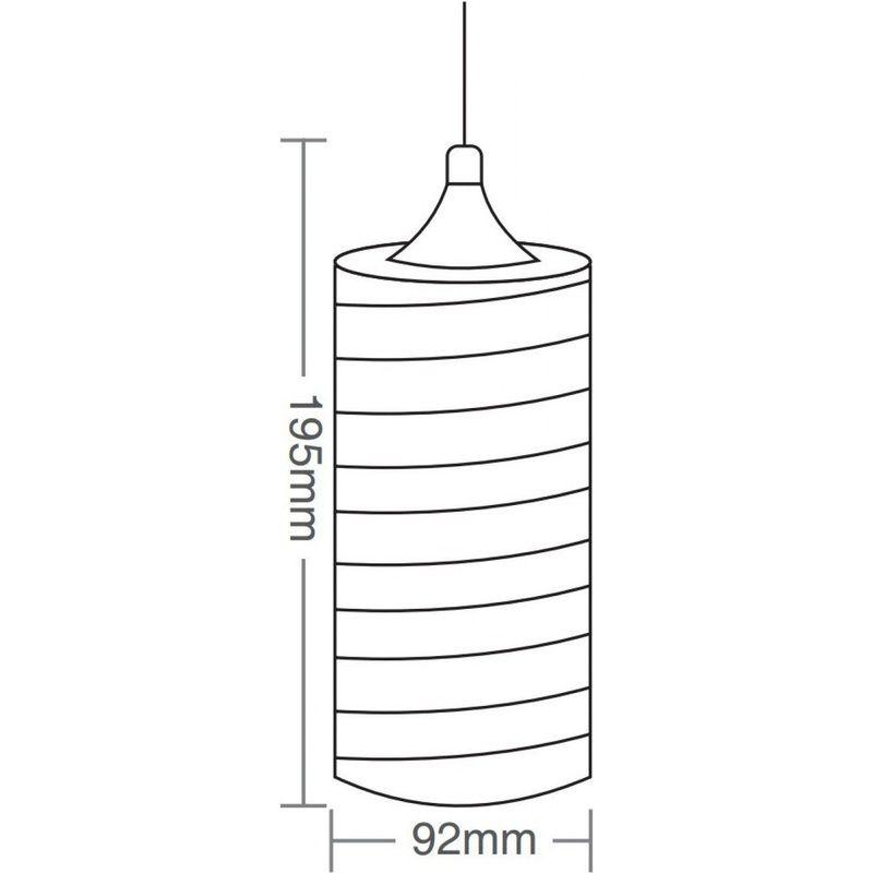 Pendente TD641 Base 1xE27 Sem Lâmpada Máximo 40W 182x185mm Taschibra