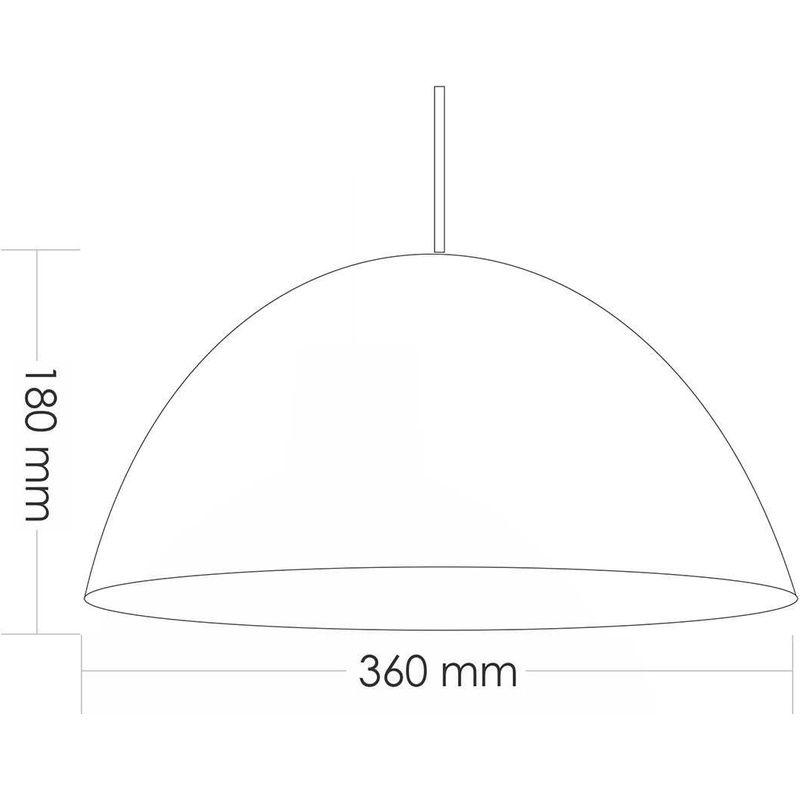 Pendente TD821F Preto Fosco Sem Lâmpada 360X360x180mm Bocal E27 Taschibra