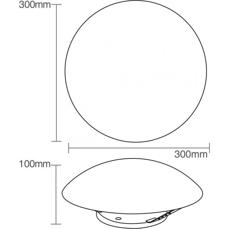 Plafon Jurerê 2xE27 Sem Lâmpada 30cm Potência Máxima 40W Taschibra