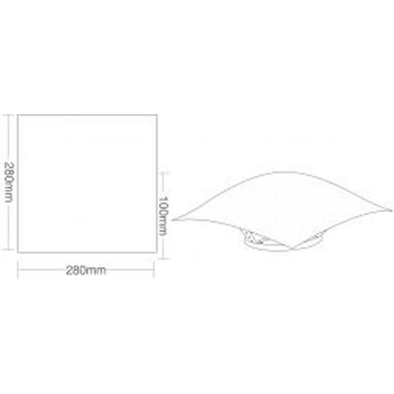 Plafon Solari Quadrado com Módulo LED 10W 6500K 100/240V Taschibra