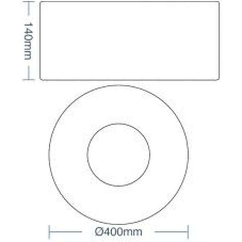 Plafon Sushi Branco com Módulo LED 40W 2700K 100/240V Taschibra