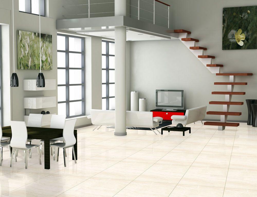 Porcelanato 61,5X61,5 Travertino Beige 61001 Retificado Extra LC Cx-2,27M2 Realce