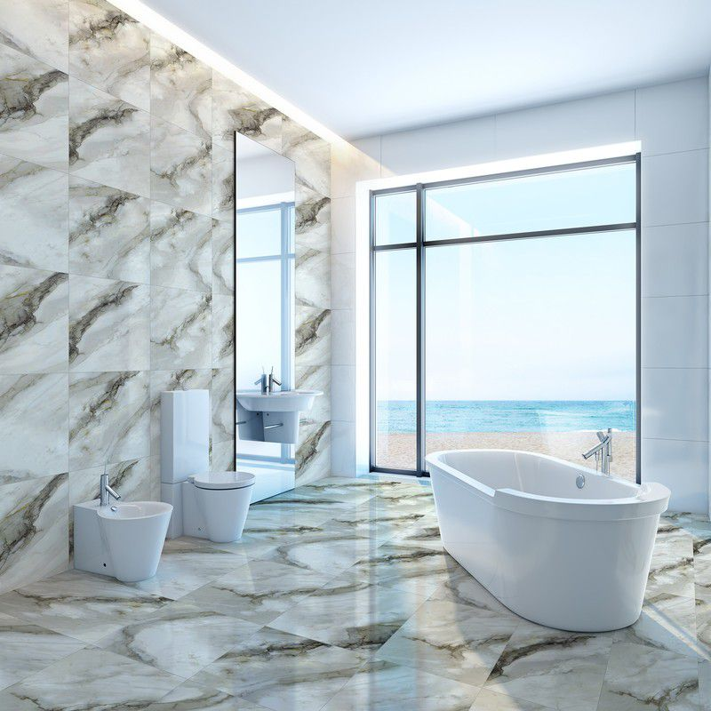 Porcelanato 70X70 Polido Kea Retificado Extra Mt V3 8 Faces Cx-1,96M2 Delta