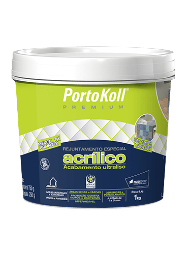 Rejunte Acrílico Premium Basalto 1kg Portokoll