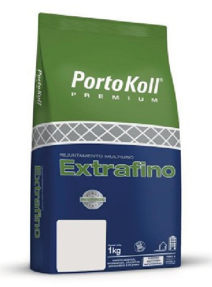 Rejunte Multiuso Cinza Platina 1 Kg Portokoll