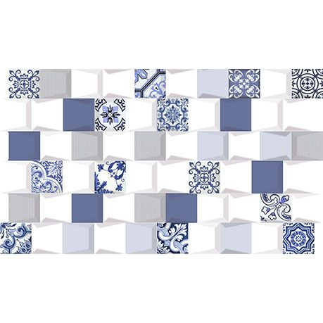 Revestimento 31X54 Hd Oasis Prisma Bleu Extra LX Cx-1,34M2 Savane