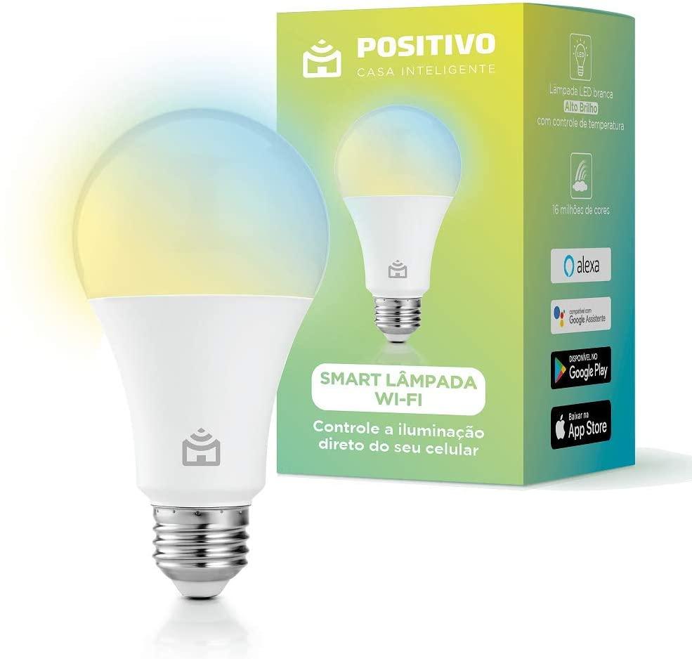 Smart Lâmpada Wi-Fi LED 9W 16 milhões de cores Positivo Casa Inteligente