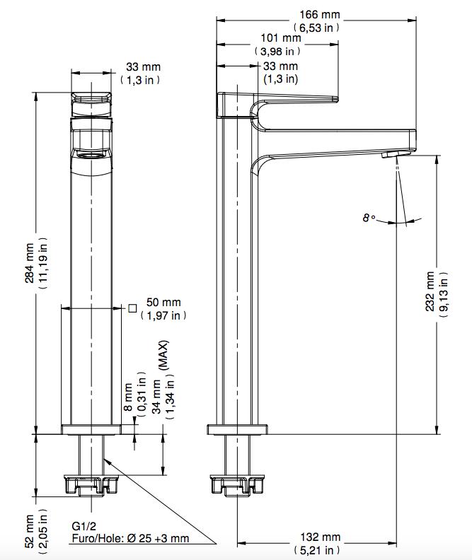 Torneira Lift De Lavatório Mesa Bica Alta Cromado Docol