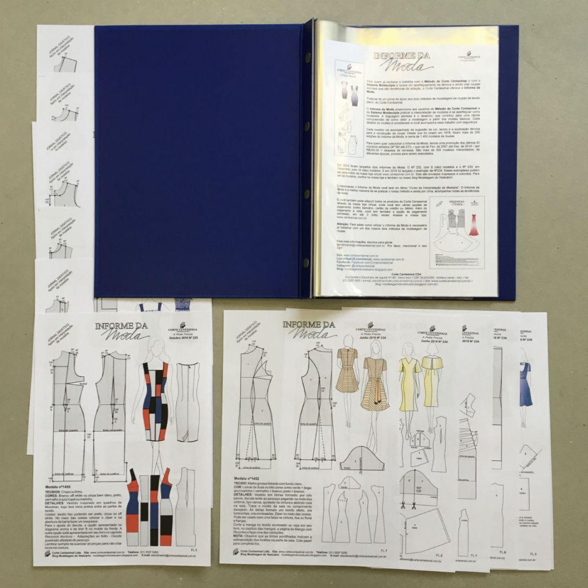 Pasta Catálogo e Informes da Moda 2015/2016  - Corte Centesimal
